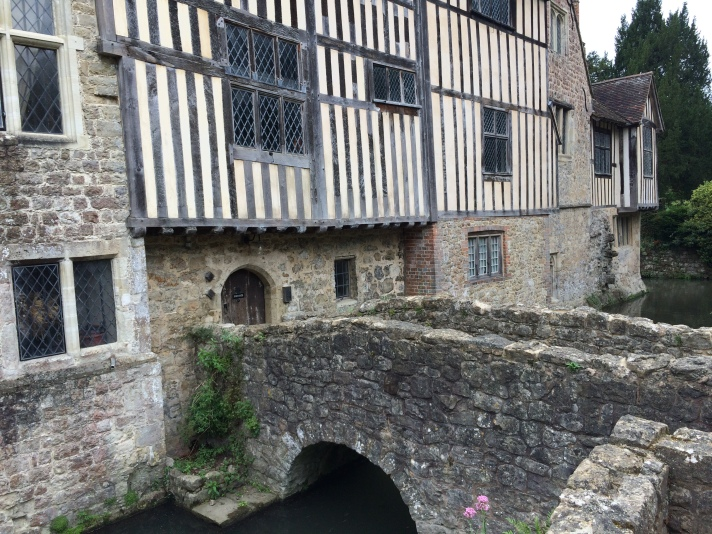 Image for decorative purposes. Ightham Mote in Kent, England. Moated Late Medieval Manor House operated by the National Trust.