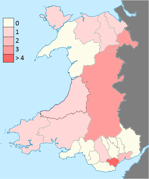 Wales plotted